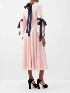 Borgo De Nor - Elisa Venus Shell Print Silk Twill Maxi Dress - Womens - Ivory Multi