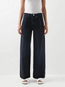 Petar Petrov - Duran Asymmetric Draped Silk Blend Midi Dress - Womens - Green
