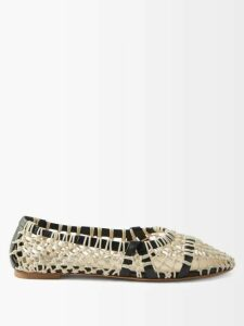 Matteau - Tiered Cotton Sundress - Womens - Beige