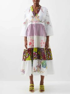 Versace - Asymmetric Silk Satin Slip Dress - Womens - Black