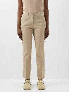 Gabriela Hearst - Dunne Waxed Trench Coat - Womens - Dark Blue