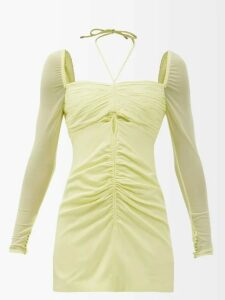 Diane Von Furstenberg - Quinn Tie Waist Stretch Cotton Poplin Dress - Womens - Orange