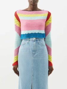Sea - Poppy Ruffled Sateen Mini Dress - Womens - Dark Yellow