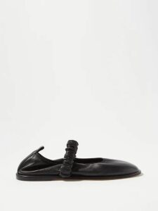 Molly Goddard - Frank Cross Stitched Gingham Cotton Midi Dress - Womens - Brown