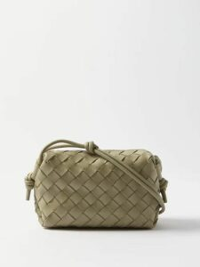 Loup Charmant - Mayette Plunge Neck Silk Dress - Womens - Burgundy