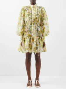 Khaite - Charlize Cotton Wide Leg Trousers - Womens - Beige