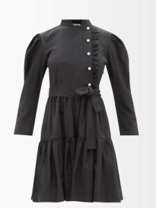 Galvan - Mamounia Sequin Embroidered One Shoulder Dress - Womens - Copper