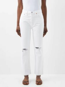 Rianna + Nina - Carnaval Geometric Print Cotton Wide Leg Trousers - Womens - Red Multi