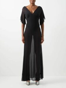 Le Sirenuse, Positano - Charlotte Embroidered Cotton Mini Dress - Womens - Blue Multi