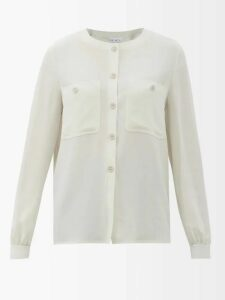 Sies Marjan - May Crinkle Effect Batwing Satin Top - Womens - Navy