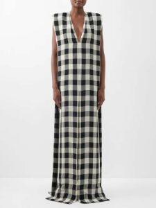 La Prestic Ouiston - Brooklyn Swirl Print Silk Midi Dress - Womens - Cream Multi