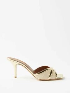 Alessandra Rich - Tropical-print Crystal-embellished Cotton Dress - Womens - Blue Multi