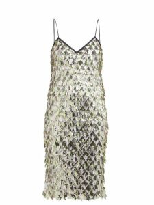 No. 21 - Jersey Lined Sequin Dress - Womens - Silver