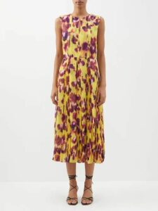 Balenciaga - Logo Print Funnel Neck Jersey Top - Womens - Red Multi