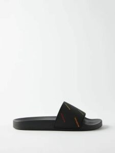 Giuliva Heritage Collection - The Belinda Striped Linen Trench Coat - Womens - Blue Multi