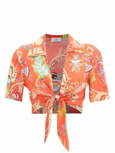 Aries - Prince Of Wales Check Cotton Blend Bouclé Trousers - Womens - Grey