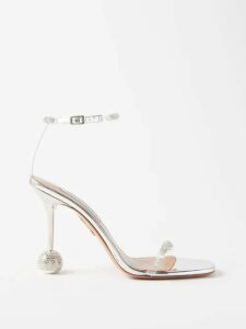 Cefinn - Tie Waist Gathered Voile Midi Dress - Womens - Red