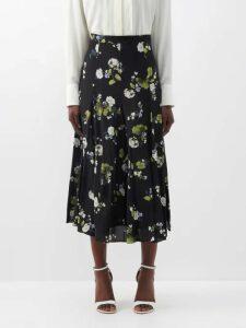 Innika Choo - Floral Embroidered Ramie Mini Dress - Womens - Beige