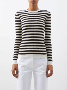 Rhode - Frida Heart Fil Coupé Cotton Blend Midi Dress - Womens - Navy