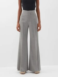 Undercover - Star Buttoned Crepe Midi Dress - Womens - Green