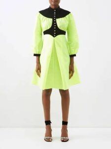 Gucci - Crystal Embellished Cut Out Panel Leather Sandals - Womens - Black Green