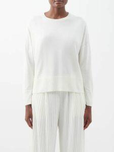 Blazé Milano - Stonedge Everyday Double Breasted Striped Blazer - Womens - Grey Stripe
