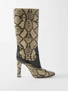Raf Simons - Photographic Print Satin Tank Top - Womens - Light Blue