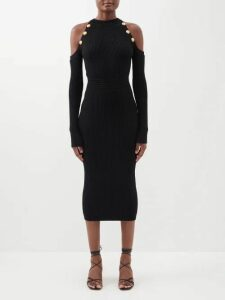 Jimmy Choo - Dochas 100 Crystal Embellished Suede Sandals - Womens - Black