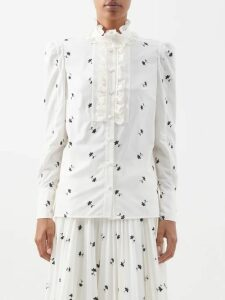 Rhode - Delilah Pom Pom Cotton Dress - Womens - Pink