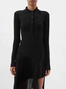 Raey - Long Line Fine Knit Cashmere Sweater - Womens - Yellow