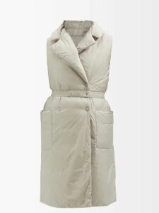 D'ascoli - Whitney Floral Print Tie Waist Cotton Dress - Womens - Blue Print