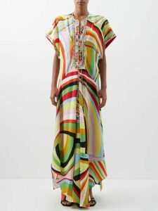Zeus + Dione - Skopelos Embroidered Linen Mini Dress - Womens - Navy