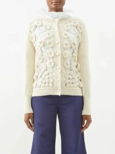 Ganni - Murillo Gingham Seersucker Top - Womens - Blue Print