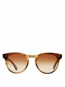 Garrett Leight - Boccaccio 50 Round Acetate Sunglasses - Womens - Brown