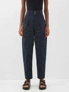 By Walid - Haya 20th Century Embroidered Linen Jacket - Womens - Pink