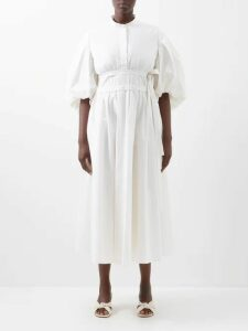 Cecilie Bahnsen - Rue Floral Guipure Lace Knee Length Dress - Womens - White Multi
