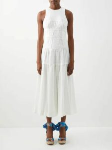 D'ascoli - Tidewater Floral Print Cotton Dress - Womens - Red Print