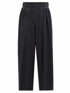 Raey - Vintage Floral-print Silk Slip Dress - Womens - Black Print