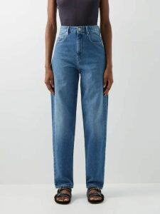 Saloni - Karen Floral Jacquard Silk Midi Dress - Womens - Green Multi