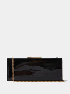 Balenciaga - Point Collar Satin Blouse - Womens - Black
