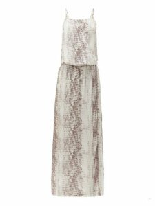 Heidi Klein - Al Snake Print Poplin Maxi Dress - Womens - Snake
