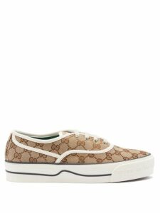 Beulah - Ipsa Floral Print Tired Cotton Poplin Midi Skirt - Womens - White Multi