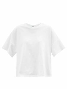 Paco Rabanne - Checked Single Breasted Wool Blend Coat - Womens - Brown Multi