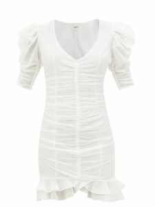 Dolce & Gabbana - A-line Floral-brocade Knee-length Skirt - Womens - Pink White