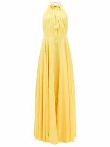 Three Graces London - Solaine Leaf Print Cotton Maxi Dress - Womens - Green Multi