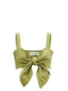Dodo Bar Or - Vyan Floral Print Cotton Midi Dress - Womens - Burgundy Print