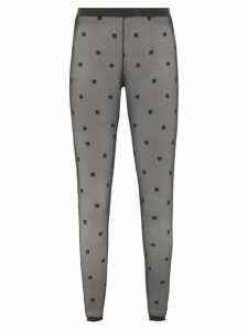 Gucci - Flared Jacquard Check Wool Trousers - Womens - Grey Multi