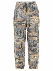 The Upside - Marine Camouflage Print Cotton Tank Top - Womens - Blue Print