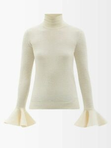 Marques'almeida - Ring Detail Raw Hem Cotton Shirt - Womens - White