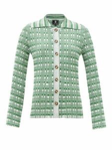 The Upside - Marine Camouflage Print Cotton T Shirt - Womens - Blue Print